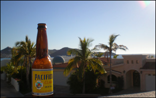 Pacific beer on the deck