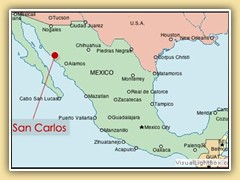 Map & Travel Info - San Carlos, Mexico
